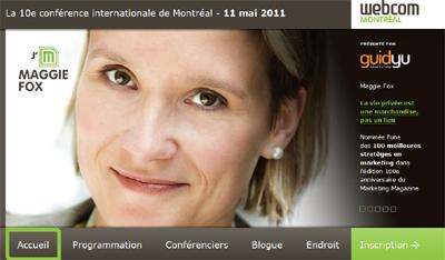 Maggie Fox- Keynote speaker at WebCom Montréal